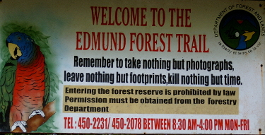 The mount edmund forest reserve sign